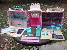 """Vtg Barbie Doll Cruise Ship Boat Dance Party Playset Big 23"""" W/ Accessories 2002"""