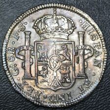 Mexico 8 Reales Ga 1821 F.S. Guadalajara - War of Independence -  NICE DETAILS