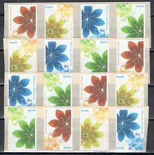Nederland Port betaald 2012 bloemen 4 verspringende 4-strips