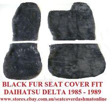 BLACK FUR SEAT COVER (SHEEPSKIN LOOK) DAIHATSU DELTA 1985-1989