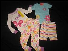 NWT Gymboree BUTTERFLY FLOWER PJs Pajamas Gymmies Lot 5