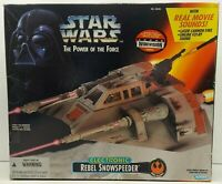 Star Wars The Power Of The Force Electronic Rebel Snowspeeder Kenner #69585 1995