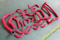 Silicone Hose For Nissan Skyline GTR;GT-R E-BNR32;R32 RB26DETT 2.6L 1989-94 Red