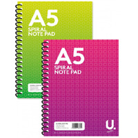 3X A5 SPIRAL NOTEPAD PENNINE STATIONARY Ruled 160 Paper Wired Office Jotter Pad