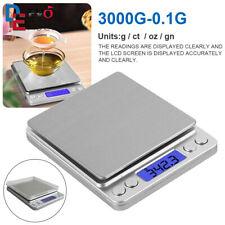 3kg/0,1g Digital LCD Küchenwaage Feinwage Präzision Briefwaage Gramm Waag DHL