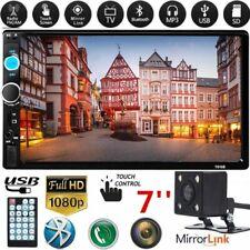Autoradio De Coche 2 Din Con Bluetooth Pantalla Tactil Radio MP5 + cámara retro