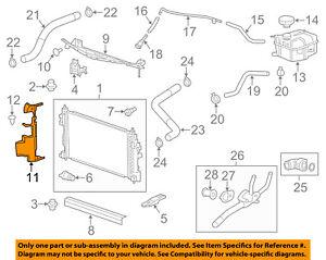 Chevrolet GM OEM 14-18 Impala 3.6L-V6 Radiator-Side Baffle Left 23116159