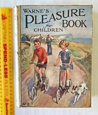 GORGEOUS VINTAGE 1930s WARNE'S PLEASURE PICTURE BOOK FOR CHILDREN #2 VGC HB UK!!