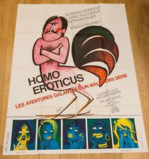 Affiche 120X160 du film : HOMO EROTICUS - VICARIO - BUZZANCA, BERNARD BLIER