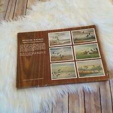 Waterfowl Vtg Boxed Set of 6 Placemats Dining Table Plastic Coated 12 X 17 RARE