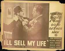 1941 I'll Sell My Life lobby card set crime  Rose Hobart, Michael Whalen