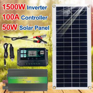 220V Solar Power System 1500W Inverter + 50W Solar Panel + 100A Controller