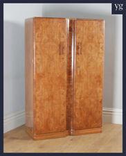 Antique Art Deco Burr Walnut 2 Door Armoire Wardrobe by Ray & Miles of Liverpool