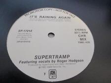 "Supertramp – It's Raining Again/Waiting So Long NM 12"" Promo WLP RARE!!!"
