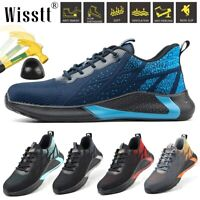 Mens Work Safety Shoes Indestructible Steel Toe Hiking Boots Breathable Sneakers