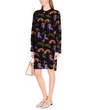 New STELLA McCARTNEY tiger printed silk shirt dress Size I42