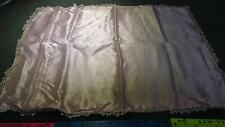 vintage pillowcase/shame pink with white trim 100%acetate satin