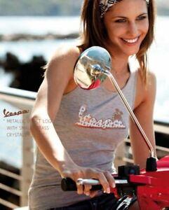 Genuine Womans Vespa Sleeveless T-Shirt Vest Grey Small New 605498M02G