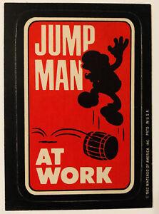 RARE! 1982 Super Mario Jumpman Card/Sticker Nintendo of America puzzle back