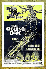 "VINCENT PRICE, Christopher LEE - 1969 horror thriller poster -- ""THE OBLONG BOX"""