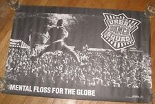 """1990 URBAN DANCE SQUAD """"MENTAL FLOSS FOR THE GLOBE"""" HUGE 36"""" X 24"""" PROMO POSTER"""