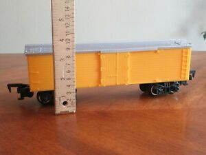 1992 Western Classic Express Train Toy State Yellow Box Car Boxcar