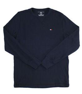 Tommy Hilfiger Mens Sleepwear Blue Size Small S Sleepshirt Thermal $32 061