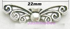 24 Butterfly Fairy Angel Wings Beads Charms LRG 22mm