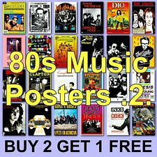 More details for poster classic music posters 1980s 80s band poster music hd borderless 80s 2