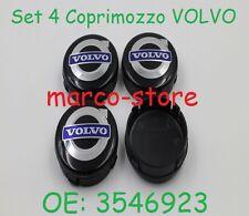 Set 4 Tappi Coprimozzo VOLVO C30 S40 V50 C70 S60 V70 S80 XC90 Cerchi Lega 64mm