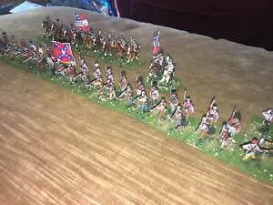 64 Painted  - 1/72 Confederate Kentucky Infantry w Gen. Albert Sidney Johnston !