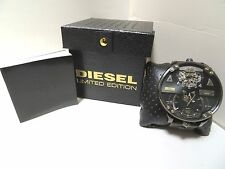 DIESEL AUTOMATIC DOUBLE TIME LIMITED EDITION HUGE 62X70MM WATCH DZ7365, NIB,$795