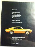1970  Ford Maverick Grabber spoiler/dual racing mirrors/embelm/decal/print ad