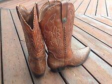 Earth Spirit Maize Leather Cowboy Western Boots Croc Print US 11 EU 44 Brown