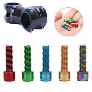 6Pcs MTB Bicycle Stem Bolts M5 x 18mm Stainless Steel Bolt Screw`