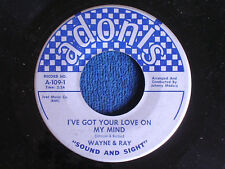 Wayne & Ray/I've Got Your Love on My Mind-Yea Why?/1960/Adonis A-109/EX to MINT-