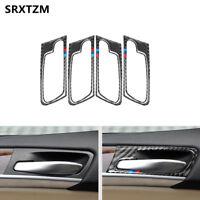 Carbon Fiber Car Interior Door Handle Stickers Cover For BMW E70 2008-2013 X5 X6
