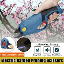 Electric Cordless Pruning Shears Secateur Branch Scissor Cutter Pruner Outdoor