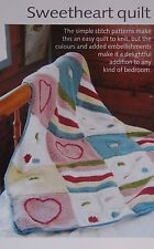 BABIES~SWEETHEART QUILT/BLANKET/THROW  KNITTING PATTERN 80 X 110cm