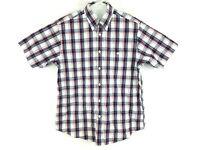 Orvis Mens Large L Short Sleeve Plaid Check Button Down Multicolor Shirt