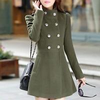 Fashion Women Korean Long Coat Jacket Windbreaker Slim Outwear Warm Winter Parka
