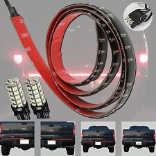 "Tailgate Bar 60"" 4-Function LED Red/White Brake Turn Reverse + 68-SMD 3157 Light"