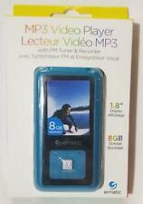 """Ematic MP3 Video Player w FM Tuner & Recorder BLUE 1.8"""" 8GB Storage Electronic"""