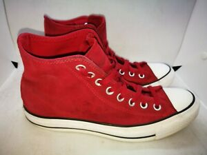 Converse red suede casual trainers size 7
