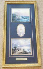 Thomas Kinkade Hope Accent Print 2 Lighthouses John 1:5 Beacon Hope Light Storm