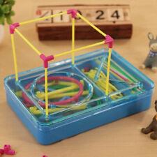 Caja Juego de Bloque de Construcción de Geometría Rompecabezas Plástica
