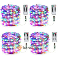 10M 100 LED RGBY USB Twinkle String Lights Fairy Lights Copper Wire Party Remote