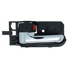 Inside Door Handle - Front or Rear Left Driver - Black w/ Chrome Lever
