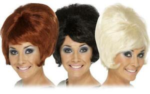 Beehive Ladies 1960s Wig Mod Go Go Girl 60s Womens Retro Fancy Dress Costume Wig