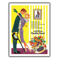 Quality Street Sweets Metal Sign Wall Plaque Vintage Advert Kitchen Decor Print